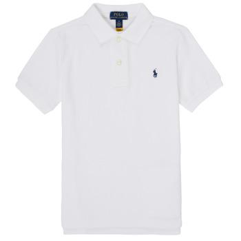 Ruhák Fiú Rövid ujjú galléros pólók Polo Ralph Lauren MENCHI Fehér