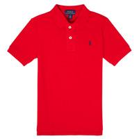 Ruhák Fiú Rövid ujjú galléros pólók Polo Ralph Lauren MENCHI Piros