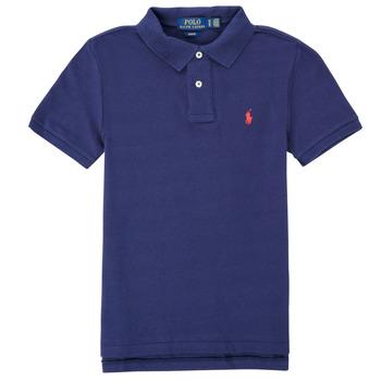 Ruhák Fiú Rövid ujjú galléros pólók Polo Ralph Lauren FRANCHI Kék