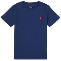 Ruhák Fiú Rövid ujjú pólók Polo Ralph Lauren TINNA Tengerész