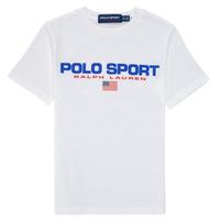 Ruhák Fiú Rövid ujjú pólók Polo Ralph Lauren DRONI Fehér