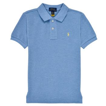 Ruhák Fiú Rövid ujjú galléros pólók Polo Ralph Lauren BLEUNI Kék