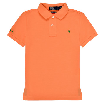 Ruhák Fiú Rövid ujjú galléros pólók Polo Ralph Lauren POLLIE Narancssárga