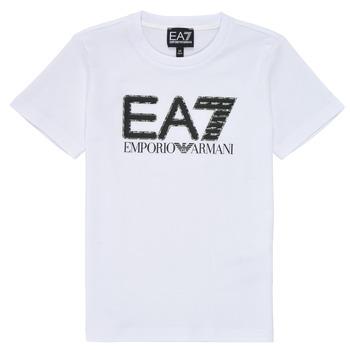 Ruhák Fiú Rövid ujjú pólók Emporio Armani EA7 3KBT53-BJ02Z-1100 Fehér