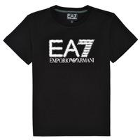 Ruhák Fiú Rövid ujjú pólók Emporio Armani EA7 3KBT53-BJ02Z-1200 Fekete
