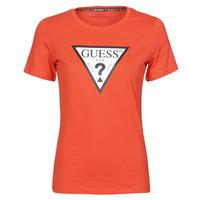 Ruhák Női Rövid ujjú pólók Guess SS CN ORIGINAL TEE Piros