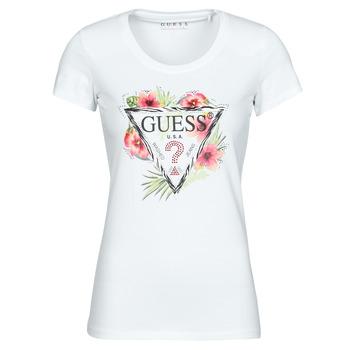 Ruhák Női Rövid ujjú pólók Guess SS CN REBECCA TEE Fehér / Sokszínű