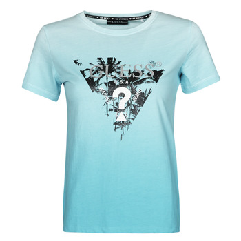 Ruhák Női Rövid ujjú pólók Guess SS CN PALMS TEE Kék