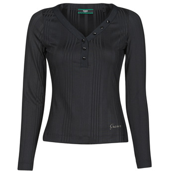 Ruhák Női Hosszú ujjú pólók Guess LS URSULA TOP Fekete