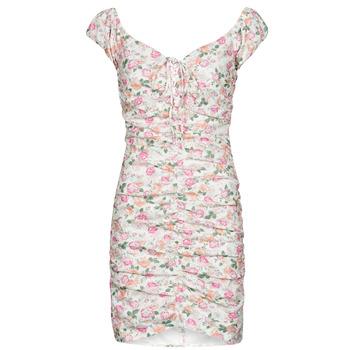 Ruhák Női Rövid ruhák Guess INGRID DRESS Rózsaszín / Tiszta