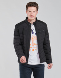 Ruhák Férfi Steppelt kabátok Guess STRETCH MIXED BIKER Fekete