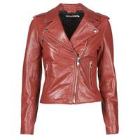Ruhák Női Bőrkabátok / műbőr kabátok Naf Naf CHACHA P Piros