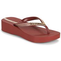 Cipők Női Lábujjközös papucsok Ipanema IPANEMA MESH VI PLAT FEM Bordó