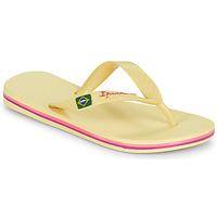 Cipők Gyerek Lábujjközös papucsok Ipanema IPANEMA CLAS BRASIL II KIDS Citromsárga