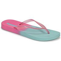 Cipők Női Lábujjközös papucsok Ipanema IPANEMA COLORFUL FEM Kék / Rózsaszín