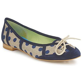 Cipők Női Balerina cipők / babák Stephane Gontard KASTOR Tengerész