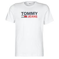 Ruhák Férfi Rövid ujjú pólók Tommy Jeans TJM CORP LOGO TEE Fehér