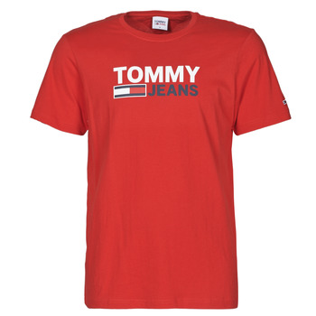 Ruhák Férfi Rövid ujjú pólók Tommy Jeans TJM CORP LOGO TEE Piros