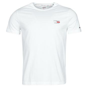 Ruhák Férfi Rövid ujjú pólók Tommy Jeans TJM CHEST LOGO TEE Fehér