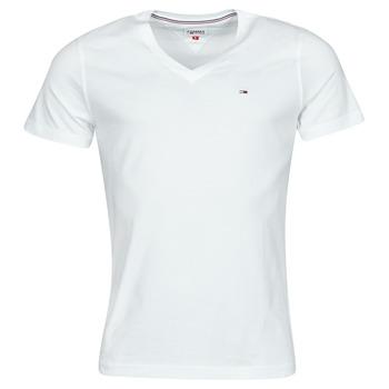 Ruhák Férfi Rövid ujjú pólók Tommy Jeans TJM ORIGINAL JERSEY TEE V NECK Fehér