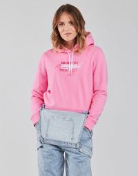 Ruhák Női Pulóverek Tommy Jeans TJW CROPPED TOMMY FLAG HOODIE Rózsaszín