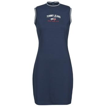 Ruhák Női Rövid ruhák Tommy Jeans TJW TIMELESS SCRIPT DRESS Tengerész