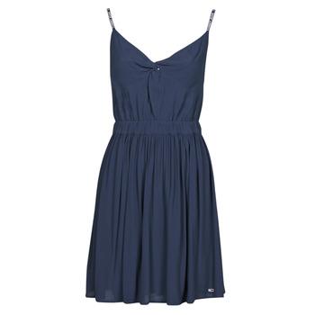 Ruhák Női Rövid ruhák Tommy Jeans TJW ESSENTIAL STRAP DRESS Tengerész