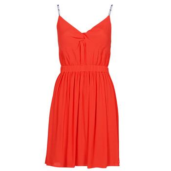 Ruhák Női Rövid ruhák Tommy Jeans TJW ESSENTIAL STRAP DRESS Piros
