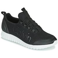 Cipők Férfi Rövid szárú edzőcipők Calvin Klein Jeans RUNNER SNEAKER LACEUP MESH Fekete