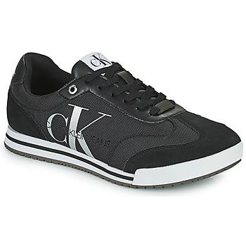 Cipők Férfi Rövid szárú edzőcipők Calvin Klein Jeans LOW PROFILE SNEAKER LACEUP PES Fekete