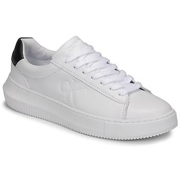 Cipők Női Rövid szárú edzőcipők Calvin Klein Jeans CHUNKY SOLE SNEAKER LACEUP LTH Fehér