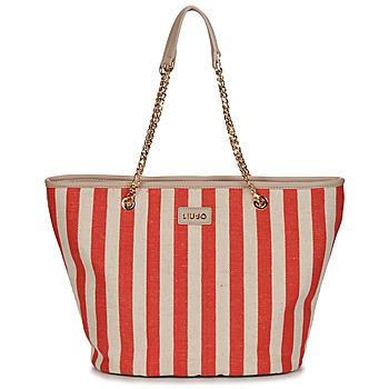 Táskák Női Bevásárló szatyrok / Bevásárló táskák Liu Jo SICURA XL TOTE Bézs / Piros