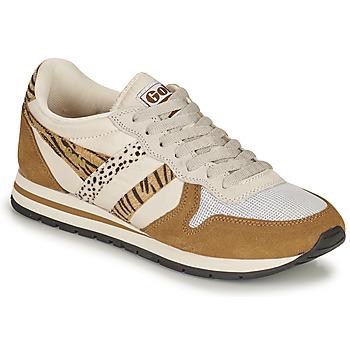 Cipők Női Rövid szárú edzőcipők Gola DAYTONA SAFARI Zebra / Teve
