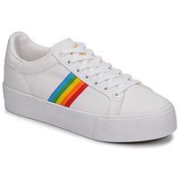Cipők Női Rövid szárú edzőcipők Gola ORCHID PLATEFORM RAINBOW Fehér / Multi