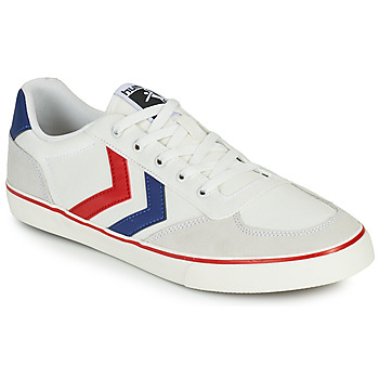 Cipők Férfi Rövid szárú edzőcipők Hummel STADIL LOW OGC 3.0 Fehér / Kék / Piros