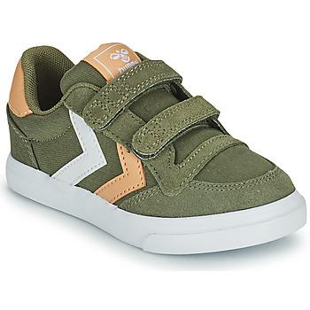 Cipők Gyerek Rövid szárú edzőcipők Hummel STADIL LOW JR Zöld