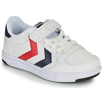 Cipők Gyerek Rövid szárú edzőcipők Hummel STADIL LIGHT QUICK JR Fehér
