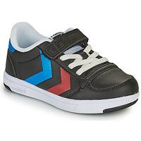 Cipők Gyerek Rövid szárú edzőcipők Hummel STADIL LIGHT QUICK JR Fekete