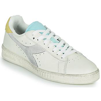 Cipők Női Rövid szárú edzőcipők Diadora GAME L LOW ICONA WN Fehér / Kék