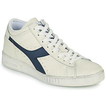 Cipők Magas szárú edzőcipők Diadora GAME L WAXED ROW CUT Fehér / Kék