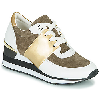 Cipők Női Rövid szárú edzőcipők Karston SILMON Fehér / Arany