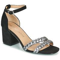 Cipők Női Szandálok / Saruk Karston POMELOS Fekete  / Ezüst