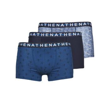 Fehérnemű Férfi Boxerek Athena EASY STYLE X3 Kék / Tengerész / Kék