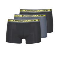 Fehérnemű Férfi Boxerek Athena OUTDOOR RECYCLEE X3 Fekete  / Szürke / Fekete