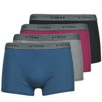 Fehérnemű Férfi Boxerek Athena BASIC COTON  X4 Szürke / Bordó / Kék / Fekete