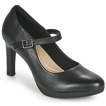 Cipők Női Félcipők Clarks AMBYR SHINE Fekete