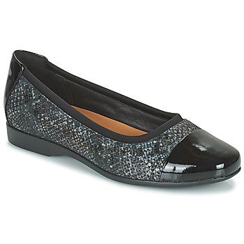 Cipők Női Balerina cipők  Clarks UN DARCEY CAP2 Fekete