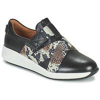 Cipők Női Rövid szárú edzőcipők Clarks UN RIO STRAP Fekete