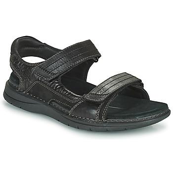 Cipők Férfi Sportszandálok Clarks NATURE TREK Fekete