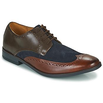 Cipők Férfi Oxford cipők Clarks STANFORD LIMIT Barna / Kék